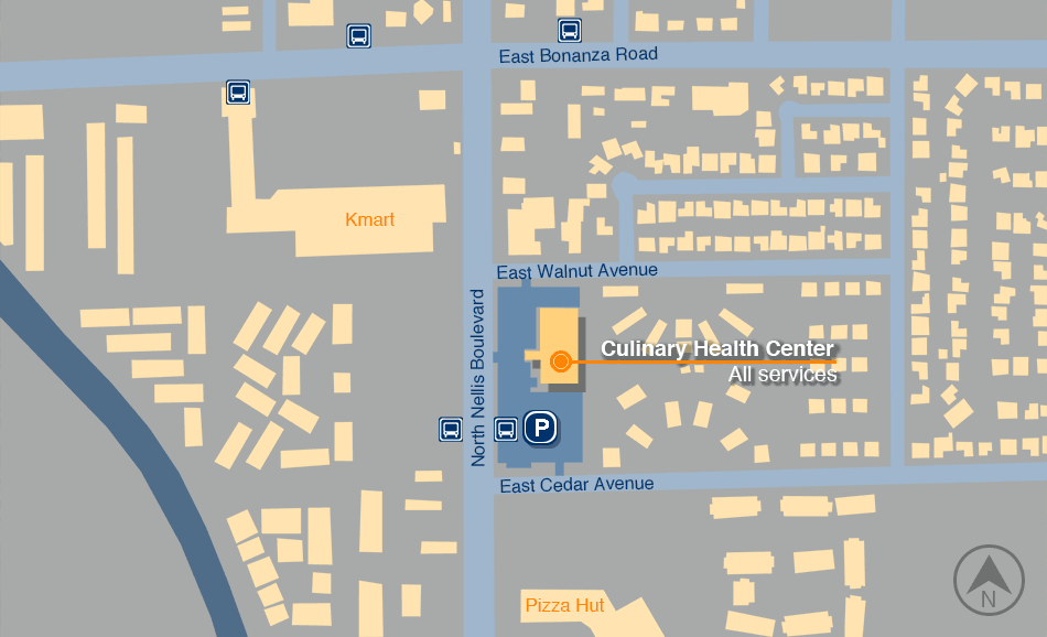 Culinary Health Center map